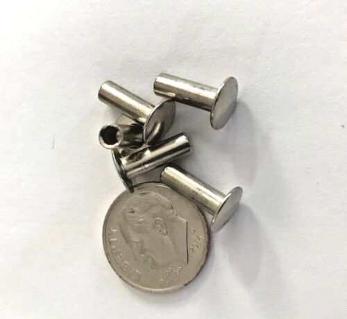 """900 Steel Nickel Semi Tubular Rivets 9/64"""" Dia x 3/16"""" Grip Lgth, 5/16"""" Head Dia"""