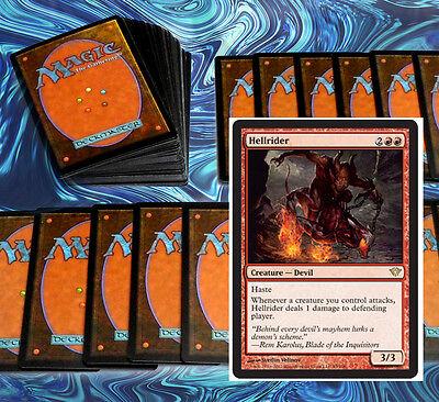 mtg RED HASTE DECK Magic the Gathering rare cards hellrider