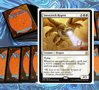 mtg KHANS WHITE DECK Magic the Gathering rare cards sunscorch regent CLEARANCE