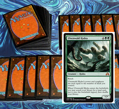 mtg GREEN LAND COUNT DECK Magic the Gathering rare cards ulvenwald hydra