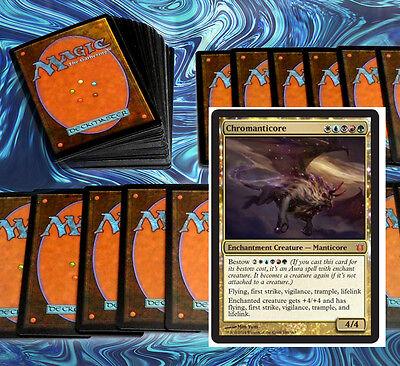 mtg 5 COLOR CHROMANTICORE DECK Magic the Gathering rare 60 cards +