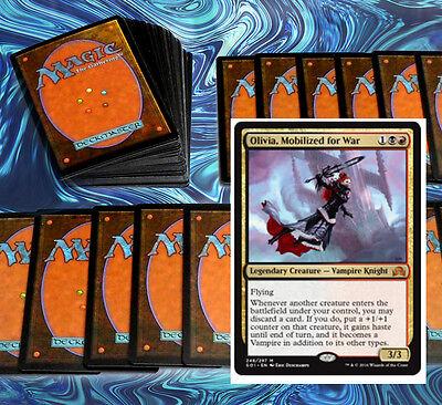 mtg RED BLACK VAMPIRE DECK Magic the Gathering rare cards SOI olivia madness