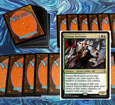 mtg GREEN WHITE RED ALLIES DECK Magic the Gathering rare cards