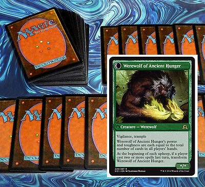 mtg GREEN WEREWOLVES DECK Magic the Gathering rare cards