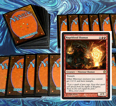 mtg BLACK RED MINOTAUR DECK Magic the Gathering rare cards