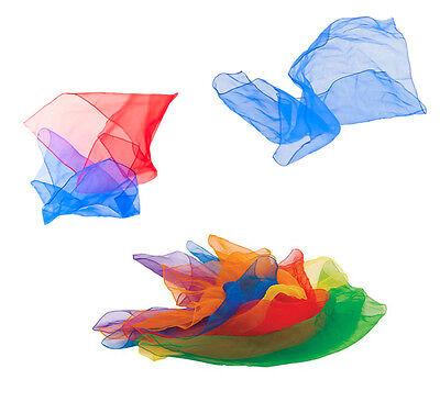 6er Set Jongliertücher Gymnastiktücher Tanztücher Seidentücher Chiffon 6 Farben