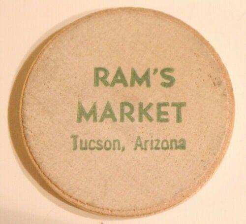 Vintage Tucson Arizona Wooden Nickel Ram