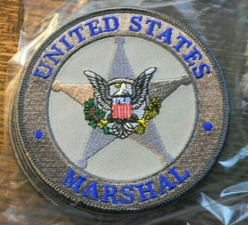"UNITED STATES MARSHAL SERVICE SEAL SHOULDER PATCH 4"" Grey"