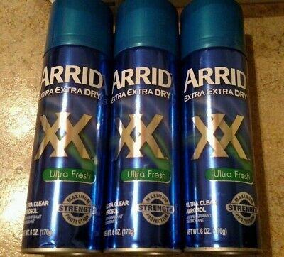 (3) ARRID XX Extra Dry Anti-Perspirant Deodorant Ultra Fresh 6 -