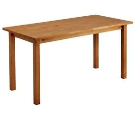 -75% !!! NEW Ashdon Solid Pine 6 Seater Dining Table - Oak Effect