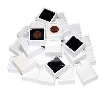 Glass Top Gemstone Jars Gem Jars Jewelry Gemstone Displays White Gem Boxes 50-pc