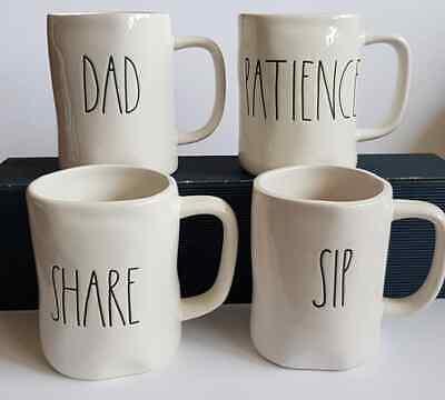Rae Dunn Tasse DAD, PATIENCE, SHARE, SIP,