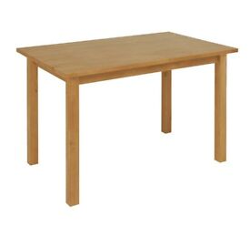 -77% !!! NEW Ashdon Solid Pine 4 Seater Dining Table - Oak Effect