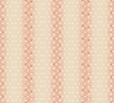 Love Bird Stripe Dots Calico Peach Stof Quilting 100% cotton fabric by the yard