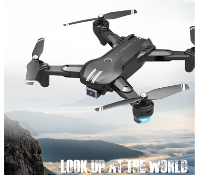 RC Quadcopter Foldable Drone 4K HD Dual Camera and 3 Batteries WiFi FPV NEW