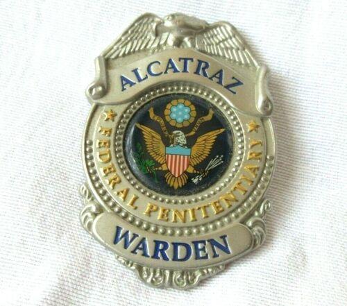 ALCATRAZ Full-Size Warden Badge Federal Penitentiary Prison Jail Souvenir Metal