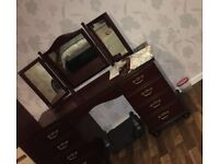 Large solid dressing table