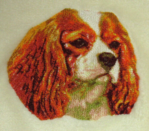 Embroidered Long-Sleeved T-Shirt - Cavalier King Charles Spaniel DLE1504