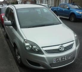 Vauxhall Zafira 1.6 Silver 7 seater 2012
