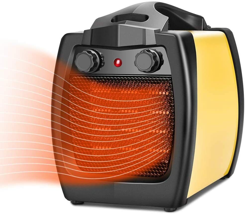 2in1 1500W Electric Ceramic Heater Fan Fast Heating Thermostat Adjustable Heating & Cooling Appliances