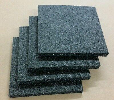 4 Sheets - 12 X 12 X 1 Black Polyethylene Plank Foam 1.7pcf Pe Free Shipping