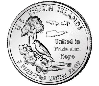 Us Territories Quarters - 2009 Denver Virgin Islands US Territories Quarter coins U.S. mint rolls Money