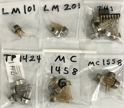 21 Gold Plated Single Dual Op-amp To-100 8 And 10 Pin Lm101 Lm201 Lm741 Mc1458