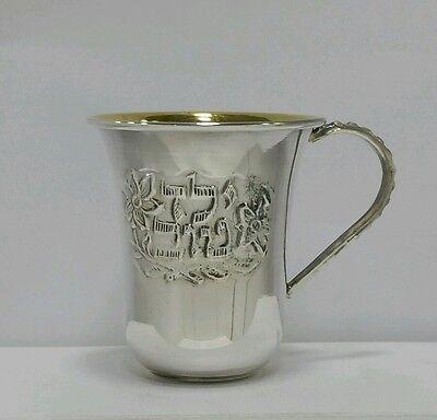 NEW Solid Silver Sterling 925 Kiddush Cup kids Goblet Becher Judaica Shabbat