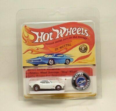 Hot Wheels RLC 50th Anniversary White 67 Custom Camaro with Retro Card & button