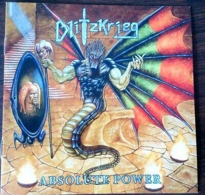 Blitzkrieg - Absolute Power.CD (2019) + slip case. New .NWOBHM. Metallica .Satan