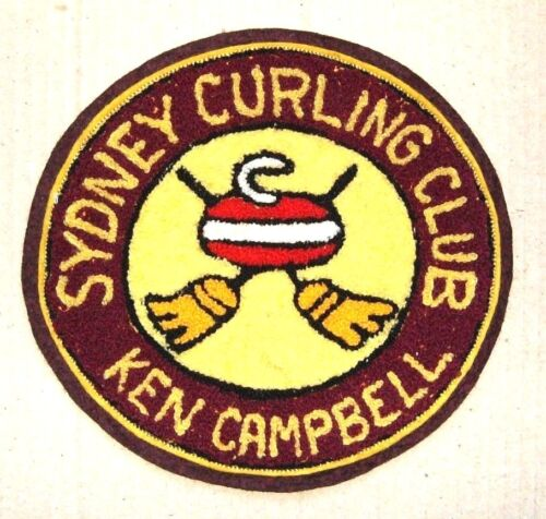Vintage Curling Club Patch - SYDNEY CURLING - KEN CAMPBELL - Jacket Patch? LARGE