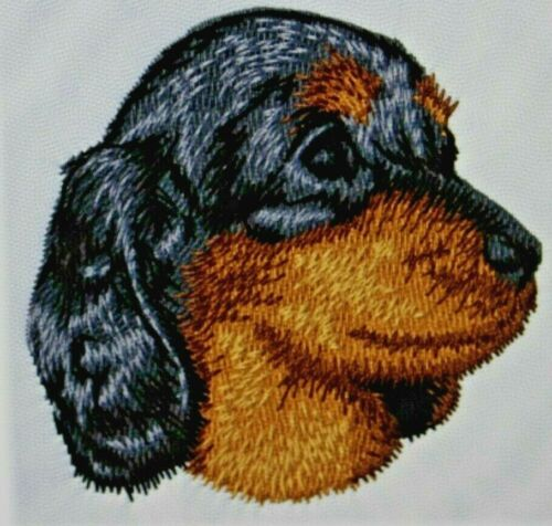 Dachshund Puppy Dog Breed Bathroom SET OF 2 HAND TOWELS EMBROIDERED