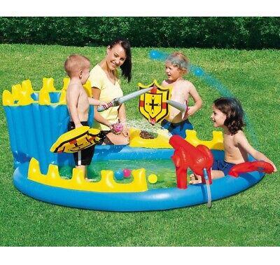 Piscina hinchable para niños pulverizador de agua castillo + accesorios bestway