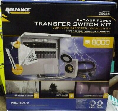 Reliance 310crk Controls 10 Circuit 2030 Amp Power Transfer Switch Kit New