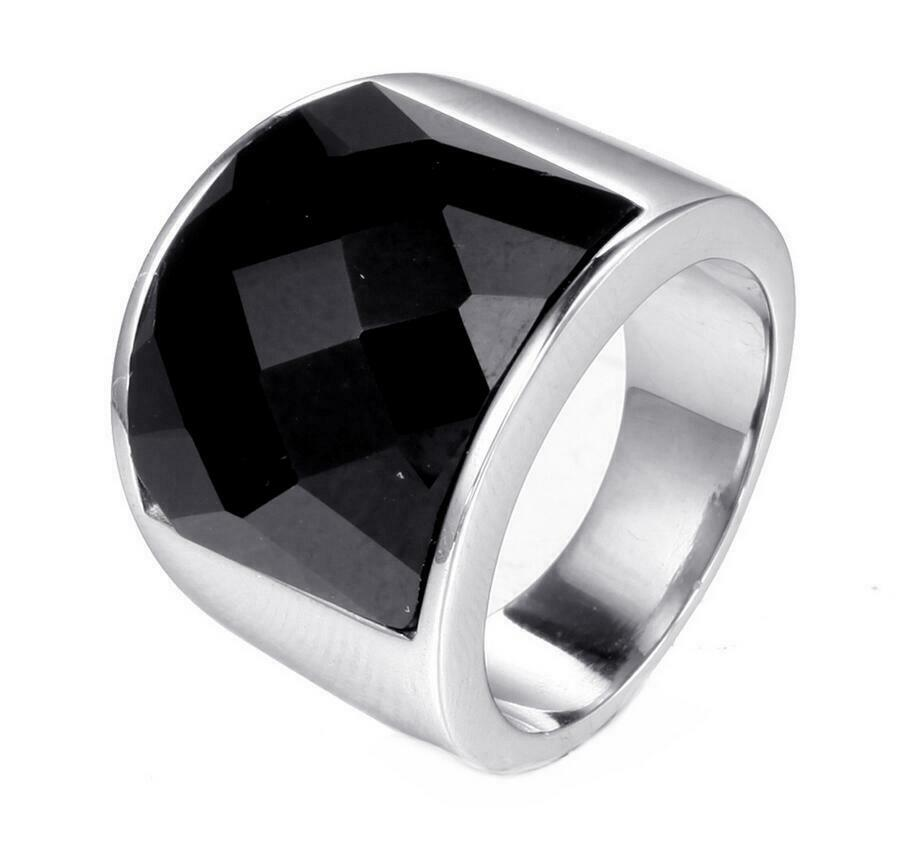 Details about Fashion Men Stainless Steel Crystal Ring Retro Blue Sandstone  CZ Band Size 7-12 3219d48558
