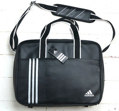 Adidas Performance Black Silver Holdall Suit Travel Shoulder Bag