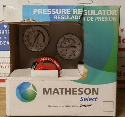 Victor Acetylene Regulator Medium Duty G250-15-510 0781-9294 Matheson Nib