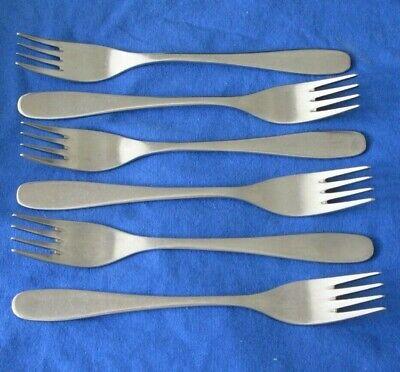 6 Modernist David Mellor Design THRIFT Stainless Steel Table Forks 18.5 cm