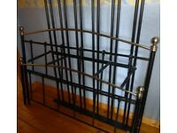 **Black and Gold Metal Double Bed Frame**
