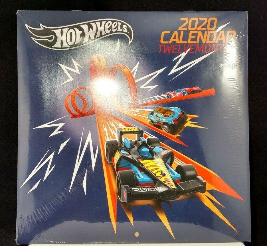NEW Hot Wheels 2020-12 month  wall Calendar