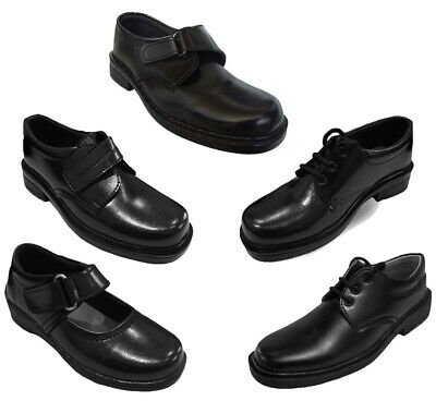 Boys Back to School Shoes Trainers Formal Casual Touch Strap Sizes UK 12 - 5 - Back To School Boys Shoes