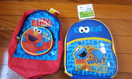 NEW sesame street backpack and cooler bag