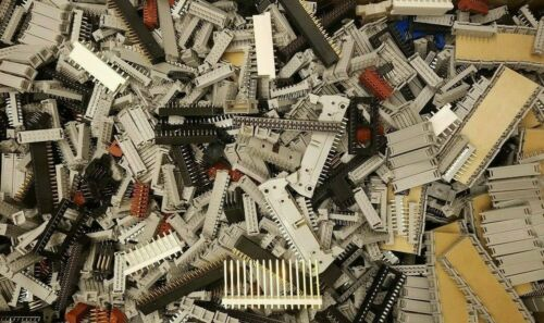 Lot (100+) Assorted Misc Connectors Headers Ribbon IC Sockets Components, Etc