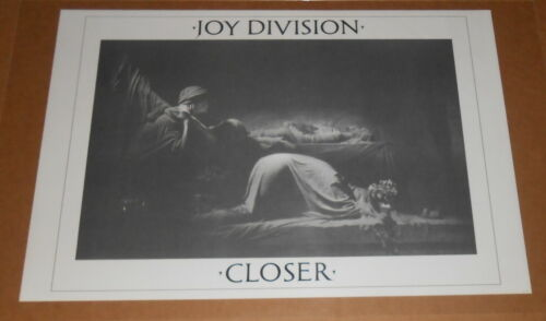 Joy Division Closer Poster 1988 Original 33x22 RARE