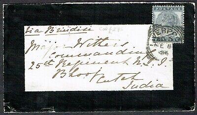 1884 5d Indigo SG169 LIVERPOOL Squared Circle to India SEA POST OFFICE Cat.£325