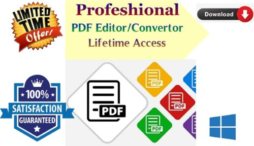 Pro Pdf editor converter creator software Lifetime access full version windows