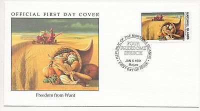 Army FDC's  - Marshall Isles - Freedom of Want - 1991  (3302) (X)