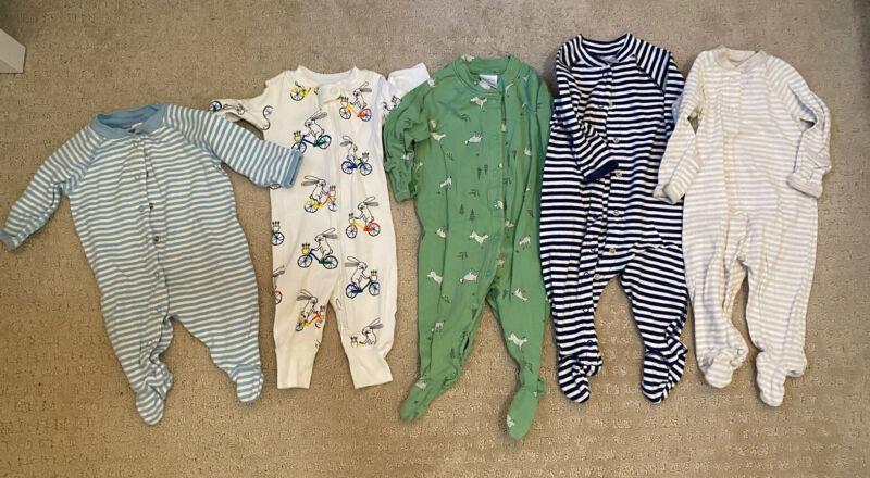 Hanna Andersson Organic Cotton Pajamas 0-3 3-6 Months Qty 5 Boys Lot