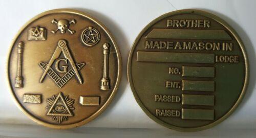 Made a Mason MASTERS COIN MASONIC