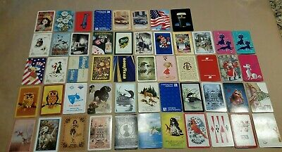 Vintage-Mod Playing Cards 52 Different Card Swap Complete Deck Junk Journal